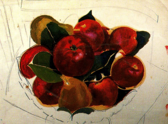 Stanley Spencer. Red apples