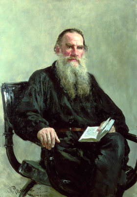 Ilya Efimovich Repin. Portrait of the writer L.N. Tolstoy