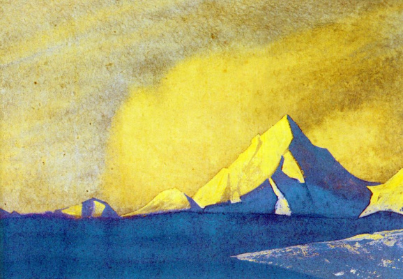 Nicholas Roerich. The Himalayas (Golden dawn)