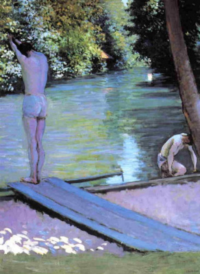 Gustave Caillebotte. Bather before the jump. The river Hierro.