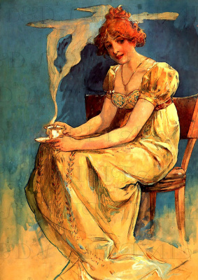 Alfons Mucha. Girl with a Cup