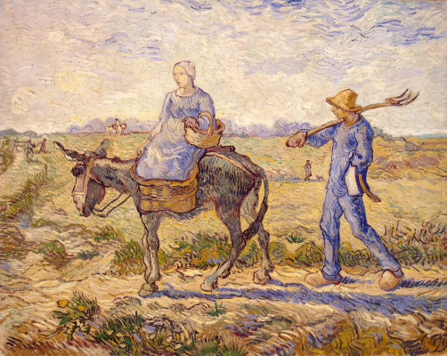 Vincent van Gogh. Morning. Administration (Imitation of Millais)