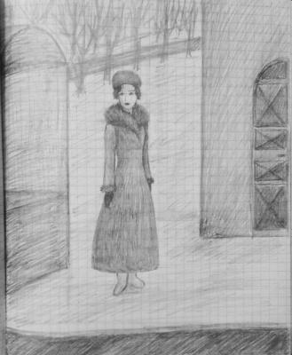 Zina Vladimirovna Parisva. Girl in a fur hat