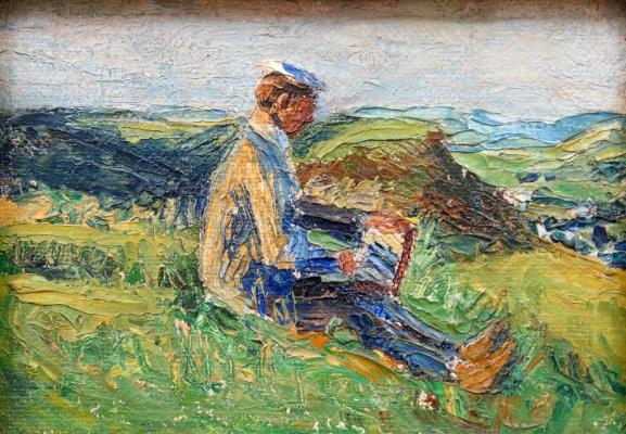 Gabriele Münter. Kandinsky, writing landscape