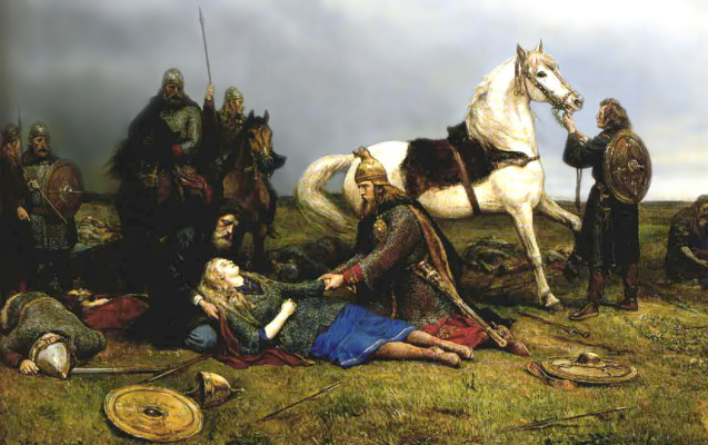 """Peter Nikolay Arbo. """"Death of Hervard"""""""