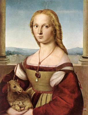 Raphael Santi. The lady with the unicorn