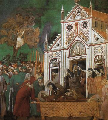Джотто ди Бондоне. Святой Франциск оплакивал Св. Клэр