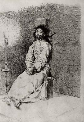 Francisco Goya. Strangled