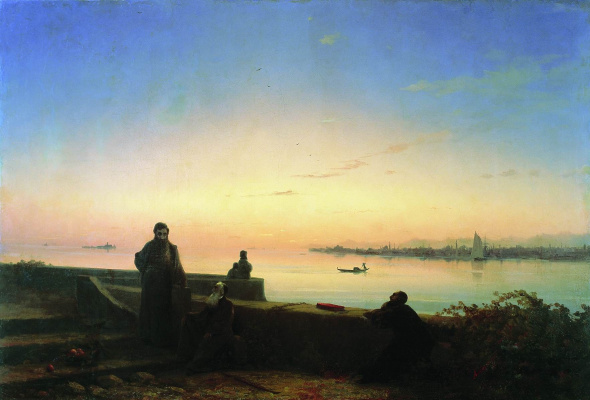 Ivan Aivazovsky. The mekhitarists on the island of St. Lazarus. Venice