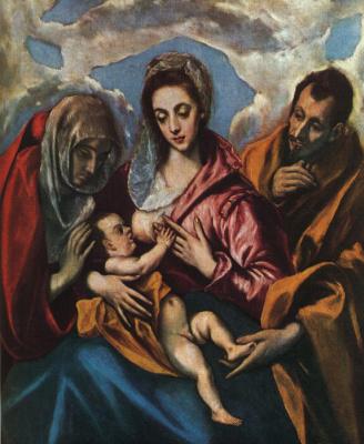 Domenico Theotokopoulos (El Greco). Holy family