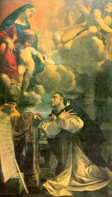 Лодовико Карраччи. Богородица с младенцем