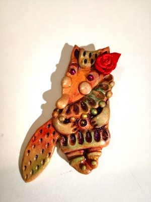 Ирина Александровна Лычагина. Brooch fox