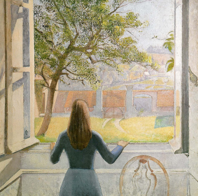 Balthus (Balthasar Klossovsky de Rola). The girl at the window