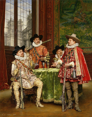 Adolf Alexander Lesrell. The Musketeers