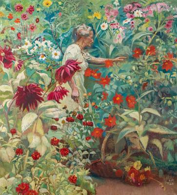 Куно Амье. Фрау Амье в саду