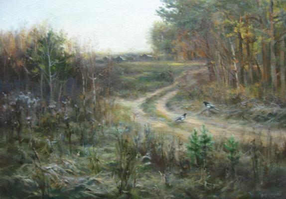 Sergey Vladimirovich Vorotilov. Landscape with the Magpies