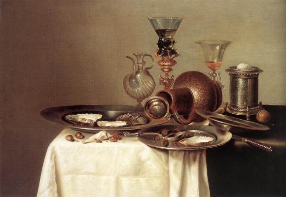 Willem Claesz Heda. Still life with dish