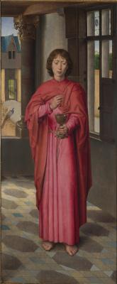 Hans Memling. Saint John The Evangelist. Triptych Donna. Right wing