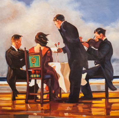 Saveliy Kamsky. Elegy For a Dead Admiral (a copy of Jack Vettriano's painting)