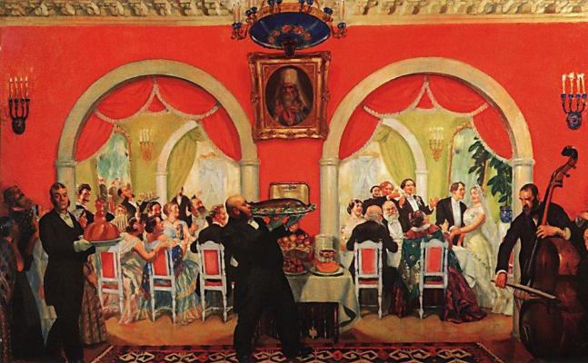 Boris Mikhailovich Kustodiev. Wedding feast