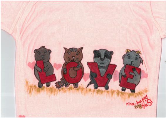 """Ирина Владимировна Хазэ. Long sleeve shirt """"Love"""" for mom with handmade painting"""