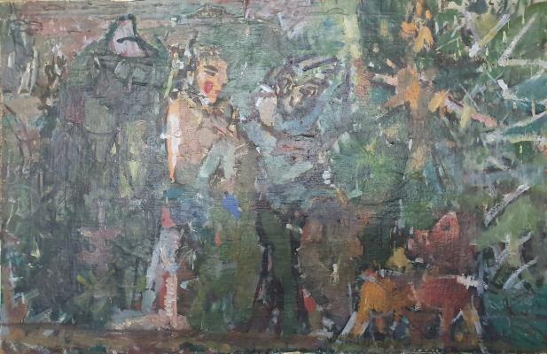 Vladimir Miski-Oglu. Walk, March, wind, evening, spring. 3 thousand.920 years from R.Kh.