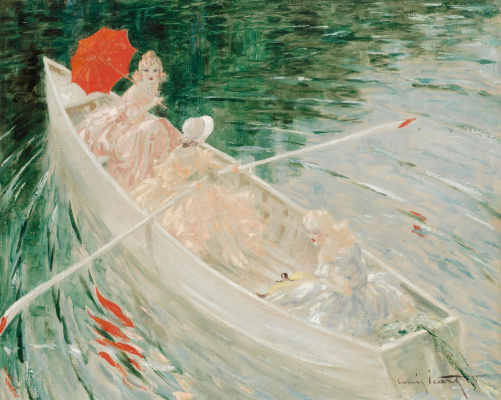 Icarus Louis France 1888 - 1950. In the boat.