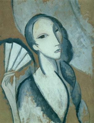 Marie Lorenzen. A woman with a scythe