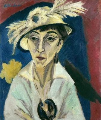 Ernst Ludwig Kirchner. Portrait Of Erna Schilling