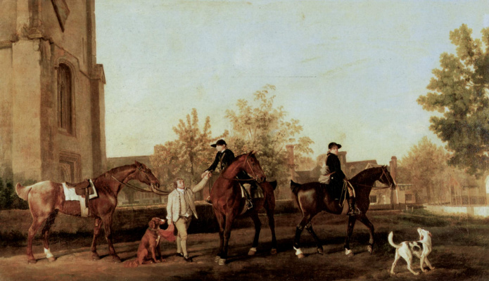 George Stubbs. Hunters traveling from Southill