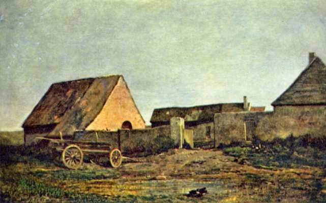 Charles-Francois Daubigny. Farm