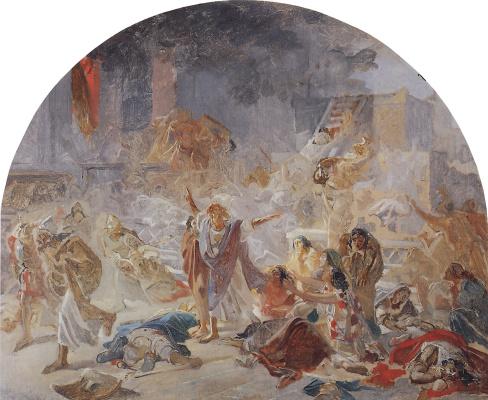 Nikolai Nikolaevich Ge. The destruction of the temple in Jerusalem