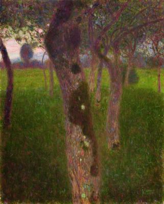 Густав Климт. Фруктовый сад вечером