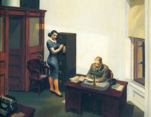Edward Hopper. Office at night