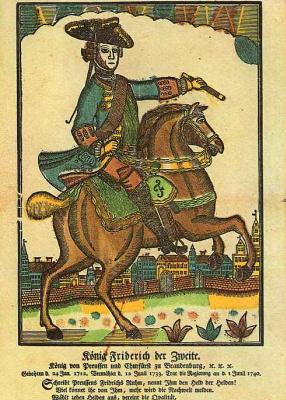 Иохан Рудольф Тиле. Прусский король Фридрих II