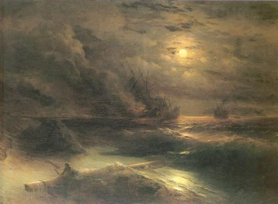 Ivan Constantinovich Aivazovski. Storm at Cape Aya