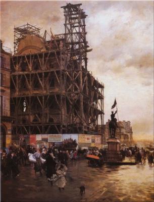 Джузеппе де Ниттис. Строительство пирамиды