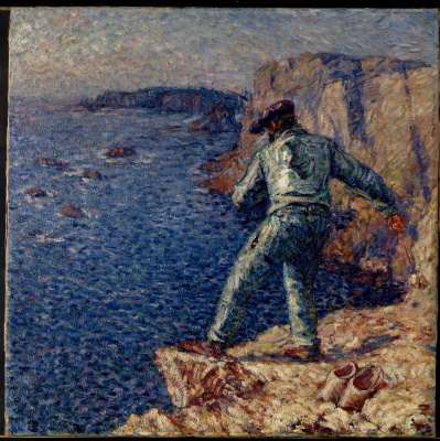 John Peter Russell. Fisherman in blue