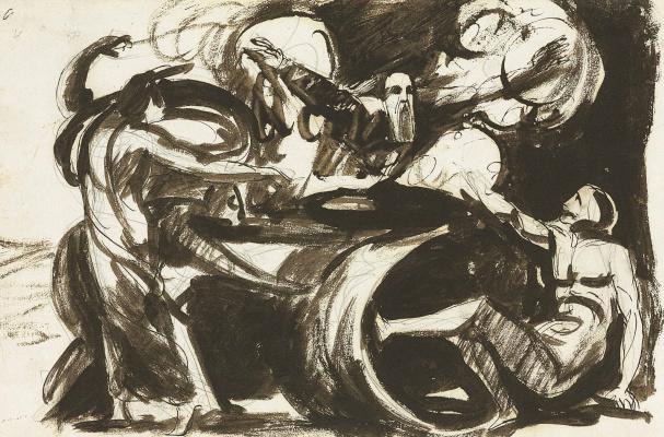 George Romney. Dreams of Athos. Sketch