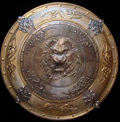 Sergey Filippenko. Shield-Panel Style Tribal Lion Face