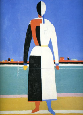 Kazimir Malevich. Woman with a rake