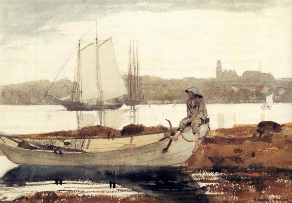 Winslow Homer. Gloucester Harbor and Dory