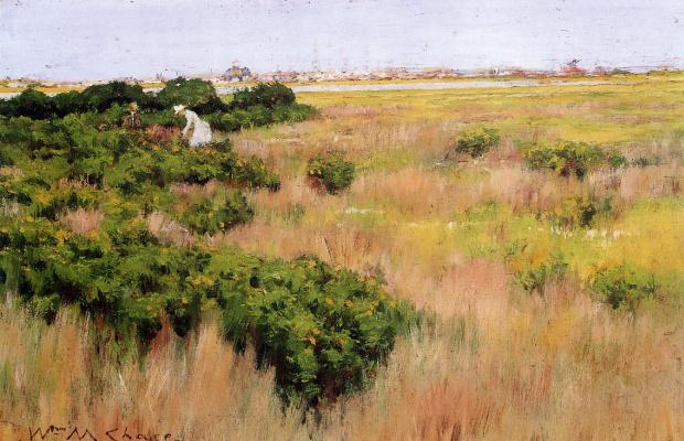 Уильям Чейз. Пейзаж у Кони-Айленд