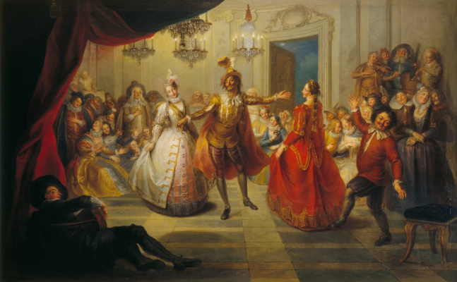 Charles-Antoine Coypel. Don Quixote at the ball at don Antonio Moreno