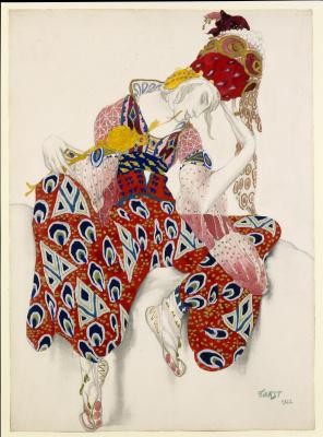 "Lev Samoilovich Bakst (Leon Bakst). Costume design for ballet ""Peri"""