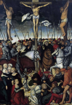 Lucas the Younger Cranach. The crucifixion