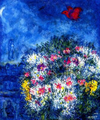 Marc Chagall. Purple bird