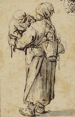 Адриан Янс ван Остаде. Крестьянка с ребенком