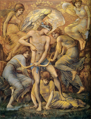 Edward Coley Burne-Jones. Cupid's Hunting Fields