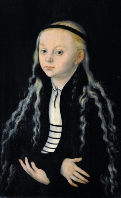 Lucas Cranach the Elder. Magdalena Luther, daughter of Martin Luther